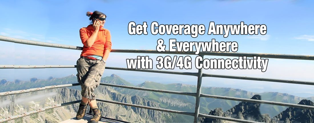 3G and 4G Connectivity Mountains