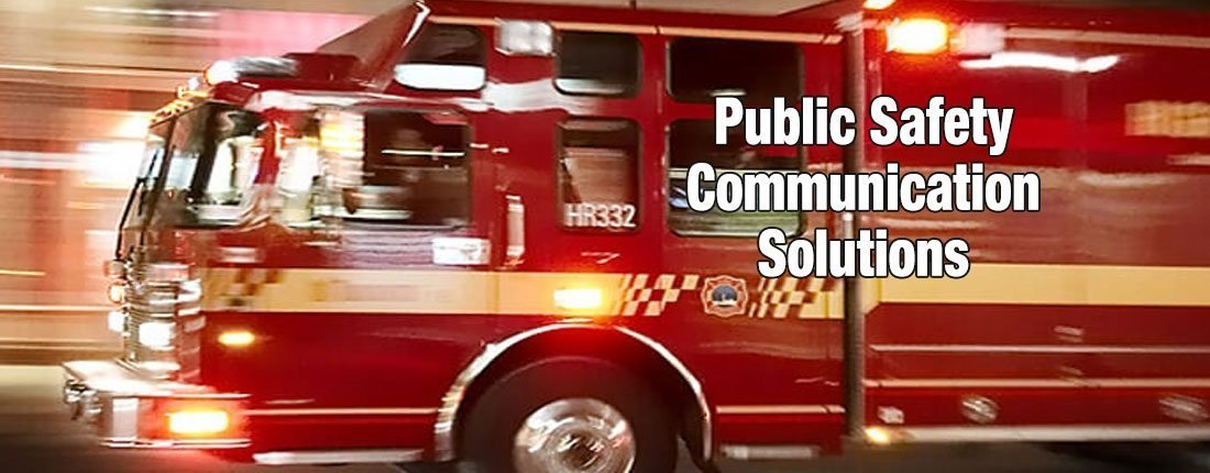 public safety communication solutions fire truck