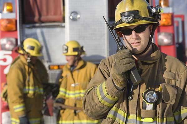 Fireman with Walkie Talkie