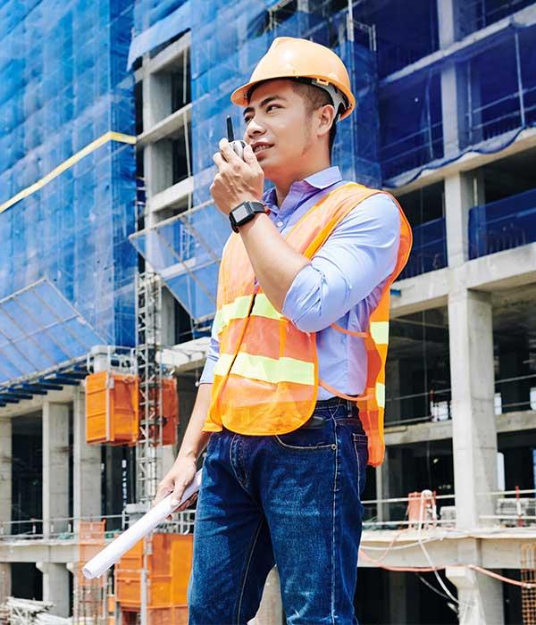Push to Talk Walkie Talkie Construction